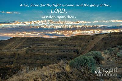 Emmett Photograph - Light Of The Lord by Robert Bales
