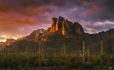 Superstition Mountains Photograph - Light Of The New Year by Peter Coskun