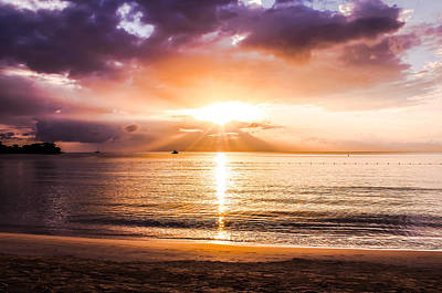 Jamaican Sunset Photograph - Light Of The World by Todd Reese