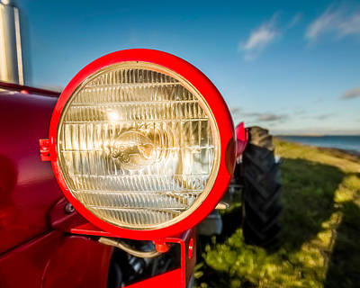 Light Of Tractor, Flatey Island Art Print