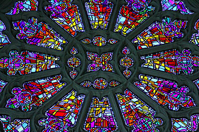 Stain Glass Window Photograph - Light Of Wisdom by Stephen Stookey