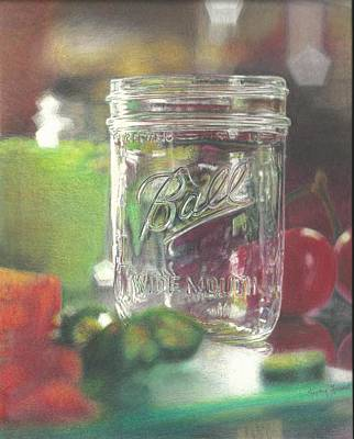 Fruit Colored Pencil Drawing Drawing - Light On Jar by Jimmy Graves
