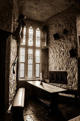 Stained Glass Ireland Photograph - Light On The Banquet Table by AMB Fine Art Photography