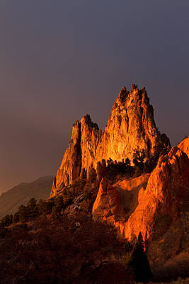 Art Print featuring the photograph Light On The Rocks by Ronda Kimbrow