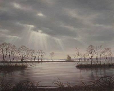 Light Over The Hudson Original by Barry DeBaun