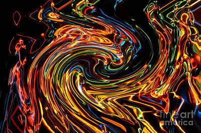Vortex Photograph - Light Painting 2 by Delphimages Photo Creations