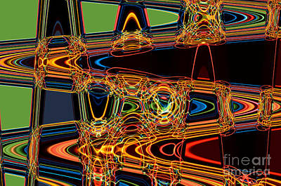 Hypnotic Digital Art - Light Painting 3 by Delphimages Photo Creations