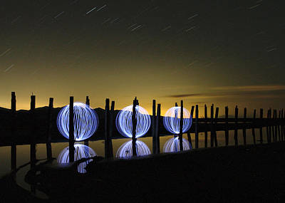 Photograph - Light Painting - 3 by Ely Arsha