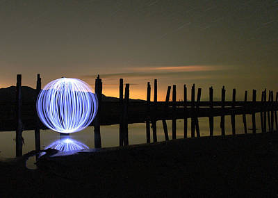 Photograph - Light Painting - 4 by Ely Arsha