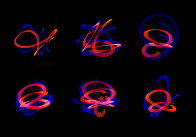Photograph - Light Painting Art by Tin Lung Chao