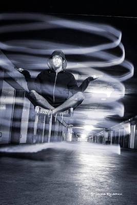 Photograph - Light Painting Levitation by Stwayne Keubrick