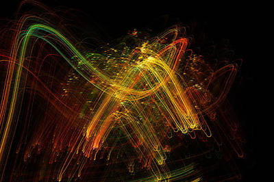 Light Painting Art Print by Sylvie Corriveau