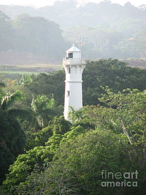 Photograph - Light Panama Canal Entrance East by John Potts