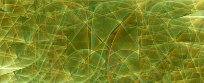 Digital Art - Light Play In Green by Ron Bissett