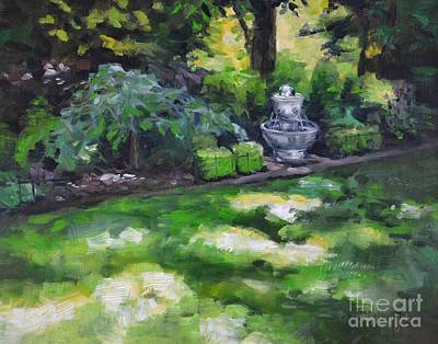 Water Filter Painting - Light Play by Lori Pittenger