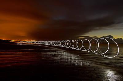 Light Play On Saunton Sands Art Print by Pete Hemington