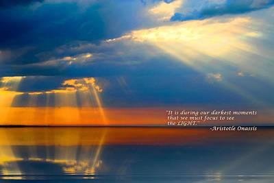 Light Quote Aristotle Onassis Art Print