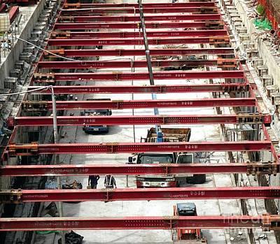 Light Rail Construction In Taiwan Art Print