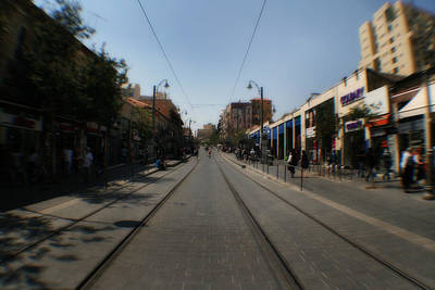 Photograph - Light Rail  -jerusalem by Doc Braham