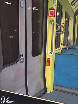 Painting - Light Rail by Jude Labuszewski