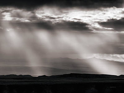 Light Rays And Rain Art Print by Leland D Howard