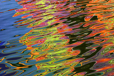 Photograph - Light Reflections On The Water At Pleasure Island In Disney World by Randall Nyhof