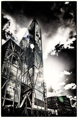 Photograph - Light Reflectors On London Glass Towers by Lenny Carter