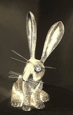 Photograph - Light Sepia New Mexico Rabbit by Rob Hans