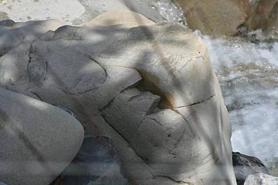 Photograph - Light Shadow River Stone by Phoenix De Vries