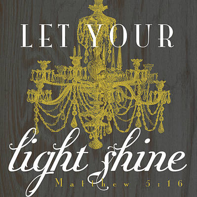 Bible Verse Painting - Light Shine by Tammy Apple