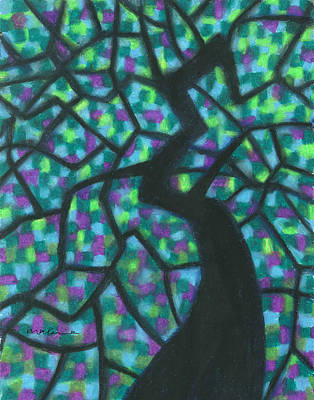 Painting - Light Shining Through Leaves by Carrie MaKenna