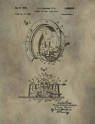 Light Socket Patent Art Print