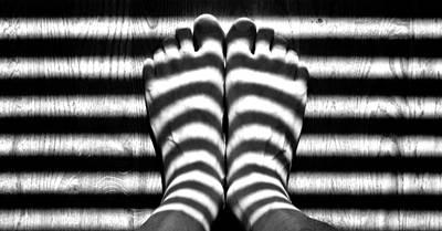 Light Socks Art Print