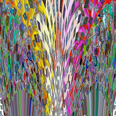 Mixed Media - Light Sparkle Show Wedding N Festival Decorations Christmas Diwali Digital Fine Art  Background Desi by Navin Joshi