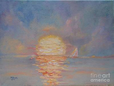 Painting - Light Sunset by Marlene Book