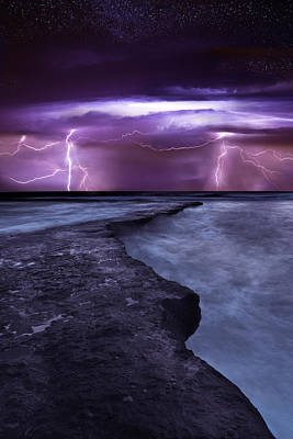 Lightning Photograph - Light Symphony by Jorge Maia