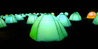 Photograph - Light Tents Variation Seven by Mick House