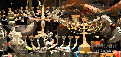 Chanukkah Photograph - Light The Darkness by Elena Comens