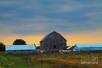 Photograph - Light Through The Old Barn At Sundown by Nina Silver