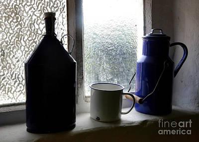 Old Jugs Photograph - Light Through The Window by Carol Groenen