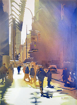 Crowds Painting - Light Traffic by Kris Parins