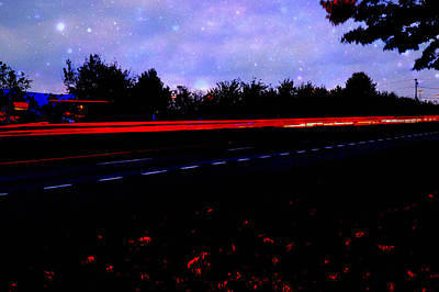 Photograph - Light Trails by Bob Gross