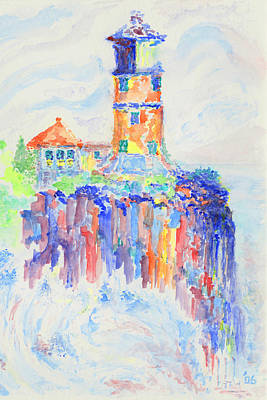 Split Rock Lighthouse Painting - Light Unto My Path by Bruce Blanchard