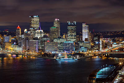 Heinz Field Photograph - Light Up Night Pittsburgh 3 by Emmanuel Panagiotakis