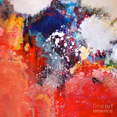 Impressionist Mixed Media - Light Up The Square by Lisa Schafer