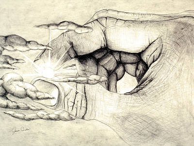 Pencil Drawing Drawing - Light Within by Jaison Cianelli