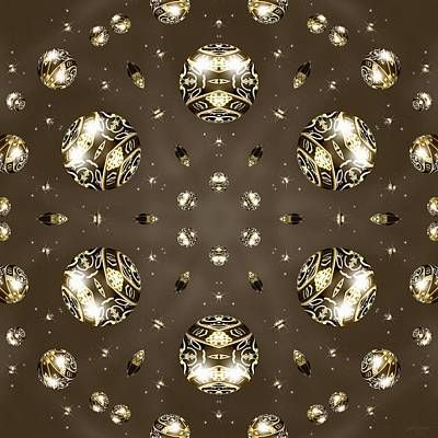 Digital Art - Lightband Orbs by Derek Gedney