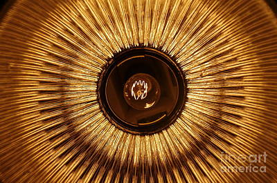 Photograph - Lightbulb and lampshade Sun by Patrick Dinneen