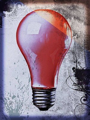 Environment Photograph - Lightbulb by Bob Orsillo