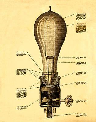 Lightbulb Patent Art Print
